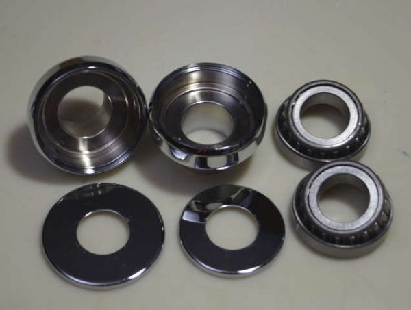 "neck cups for harleys. 1"" with bearings"