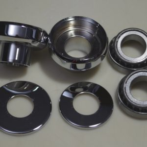 neck cups and bearings forharley-davidson. chrome, 1 inch