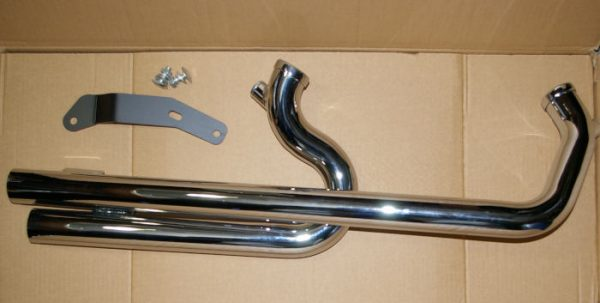 shot-gun exhaust for evo sportster